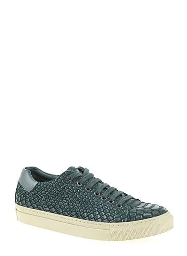 D by Divarese %100 Deri Sneaker Yeşil